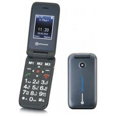 "PowerTel M6700 Senior Phone Dual Sim Display 2"" Micro SD Bluetooth con Tasti Grandi + SOS Fotocamera Colore Nero"