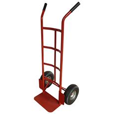 Carrello In Acciaio A 2 Ruote - Portata 150 Kg - Colore Rosso