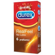 Real Feel 6 Preservativi Profilattici Ipoallergenico Contatto Pelle