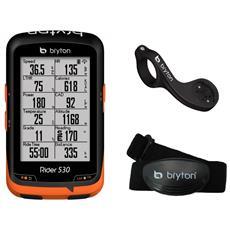 Ciclocomputer Rider 530h Gps Con Fascia Cardio E Supporto Frontale F Mount Br530h