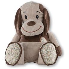 420472 Cane giocattolo Tessuto Beige, Marrone peluche