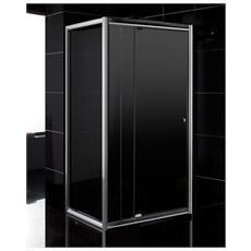 Box doccia 80x80 con porta battente cristallo trasparente h185 6mm
