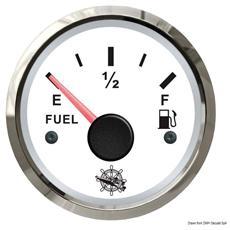 Indicatore carburante 240/33 Ohm bianco / lucida
