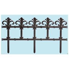Staccionata Steccato Bordure Recinzione In Resina Garden Art 6 Pezzi 370 Cm