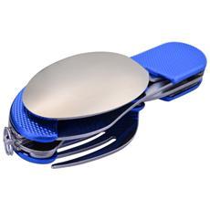 Set Coltello, cucchiaio, Forchetta, Apribottiglia 4-in-1 Campeggio Outdoor Blu