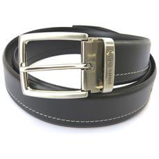 cintura in pelle '' nero (polpaccio) - 110 cm 35 mm - [ n5580]