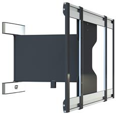 Slim Swing, Nero, Argento, 200 x 200 mm, 600 x 400 mm, -90 - 90°