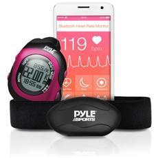 PSBTHR70 Cardiofrequenzimetro con Bluetooth per Android e iOS - Nero / Rosa
