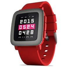 """Smartwatch Time Display 2.5 """" Bluetooth con Pebble Health Rosso - Europa"""