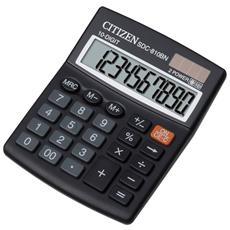 Calcolatrice da Tavola Nero 10 Cifre Solare e a Batteria Z200510