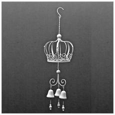 Campane ornamentale per arredo esterno in ferro batturo finitura bianca