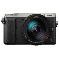 Lumix DMC-GX80 Silver + Obiettivo 14 - 140mm f / 3.5-5.6 ASPH Stabilizzato 16Mpx Video UHD 4K Wi-Fi Post-Focus
