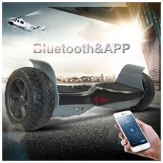 8.5 Pollici Hoverboard Bluetooth+app Monopattino Elettrico Scooter Smart Balance Allroad Suv Skateboard Nero