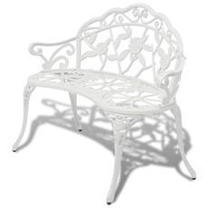 Panchina Da Giardino In Alluminio Fuso Bianco