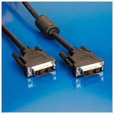 DVI Cable, Single link, 2m DVI-D DVI - D 18+1 Nero cavo di interfaccia e adattatore