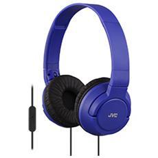 SR-S180 Cuffie con Microfono e Telecomando Colore Blu