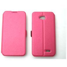 Lg D320 L70 Dual Custodia Bag Case Libro Book Pocket Colore Fucsia