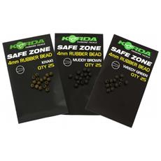 Safe Zone Rubber Bead Weedy Green 4 Mm Unica Verde