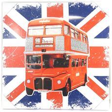 canvas 'so british' bus (40x40 cm) - [ m5303]