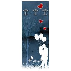 Appendiabiti Da Parete 49x139 Cm Couple In Love