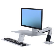 """WorkFit-A Supporto per Montaggio su Scrivania per 1 Schermo LCD fino a 27"""" - VESA"""