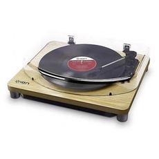 Classic LP - Giradischi con funze converse USB, finitura legno