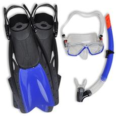 Set Per Immersioni Maschera Subacquea Blu Pinne Adulti 38 - 41