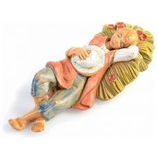 Pastore Dormiente 6,5cm In Resina Presepe (f-266)