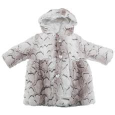 Cappottino Con Cappuccio In Pelliccia Sintetica Bambina / neonata (1 Anno) (grigio)