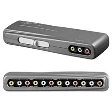 Switch Audio Video 4 Entrate - 1 Uscita Connettori Rca