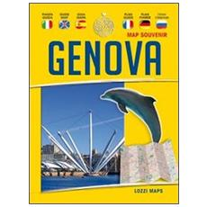 Genova map souvenir. Guida e mappa