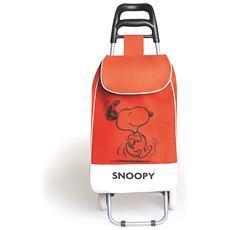 Carrello spesa Peanuts Snoopy rosso lt. 38
