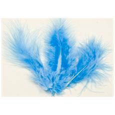 Set Di 20 Piume Di Colore Blu Per Decorazioni Taglia Unica