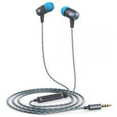 AM12 Plus Auricolare Stereofonico Cablato Blu, Grigio auricolare per telefono cellulare