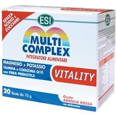 Multicomplex vitality 20 bustine integratore minerali magno potassio q10