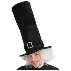 cappello cilindro tuba in velluto nero cm 50