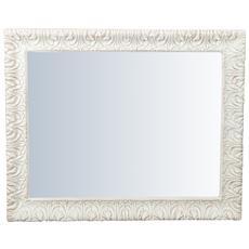 Specchiera Da Parete Verticale / orizzontale In Legno Finitura Bianca Anticata Made In Italy L83xpr5,5xh105 Cm