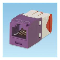 UTP RJ45 Copper Jack Module, Cat5e, violet RJ45 RJ45 Grigio, Viola cavo di interfaccia e adattatore