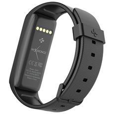 """ZeFit 3 colore Nero IP67 Display 1.06"""" monitoraggio battito cardiaco, contapassi, calorie e sonno per Android e iOS"""