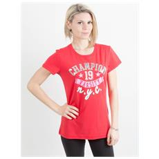 T-shirt Donna Athletic Graphic Rosso Xl