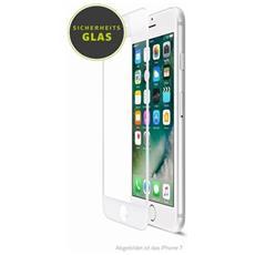 Pellicola protettiva in vetro curvo per iPhone 8 con bordo bianco