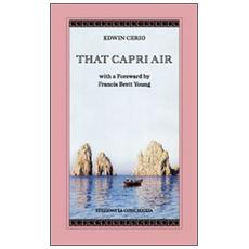 That Capri air with a foreward by Francis Brett Young