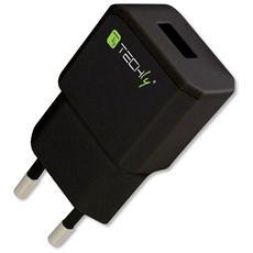 IPW-USB-21ECBK - Alimentatore da Rete Italiana 1 porta USB 5V / 2.1A Nero