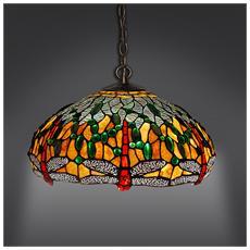 Lampadario Dragonfly Lampada Da Soffitto In Vetro Stile Tiffany