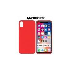 Custodia Per Apple Iphone X (5.8' Pollici) In Gel Tpu Silicone Colore Rosso Alta Qualita' Mercury Soft Blister