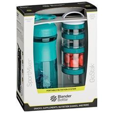 ComboPak Sportmixer GoStak 820ml Plastica, Poliossimetilene (POM), Polipropilene (PP), Tritan Colore foglia di tè borraccia