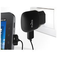 *Puro Mini Carica Batterie Da Viaggio +Cavo Galaxy Tab+ Porta Usb Nero