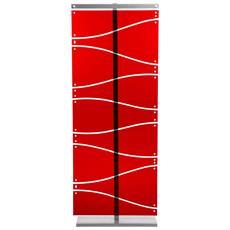 Separè Pareo Metacrilato Metallo Rosso Componenti D'arredo Design
