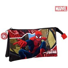 Astuccio 3 Posti Chiusura Zip Portapenne Porta Matite Pastelli Marvel Spiderman