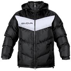 Giubbotto Podio Givova - Con Cappuccio Removibile Di Colore Nero / bianco Taglia S